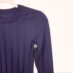 Athleta Sweaters - •SOLD• Athleta | Remarkawool Navy Ribbed Top XS